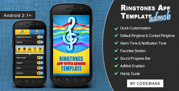 Ringtones App Template with AdMob