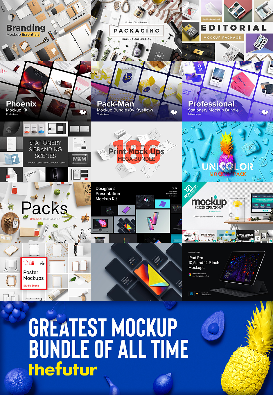 Best and Greatest Bundle of Mockups of all Time from: The Futur