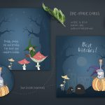 Handdrawn Cute Halloween Design Collection