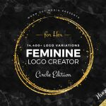 Create 14,400+ Logo variations with the Feminine Logo Creator - Circle Edition for her - Radiant Design Hub